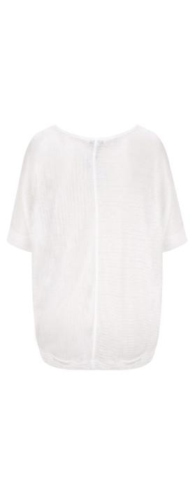 Sandwich Clothing Relaxed Slub Linen Blend T-shirt Pure White