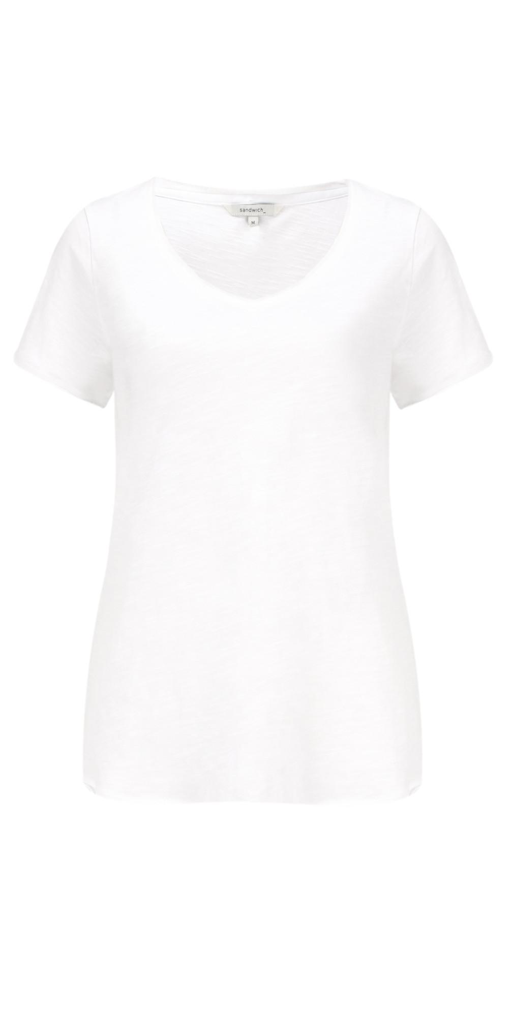 Essential Slub Jersey V Neck T-shirt main image