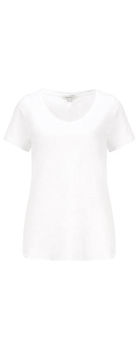 Sandwich Clothing Essential Slub Jersey V Neck T-shirt Pure White