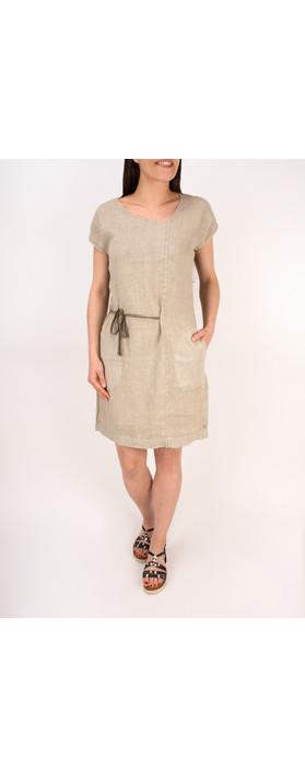 Sandwich Clothing Linen Tie Detail Dress Desert Sand