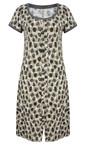 Sandwich Clothing Desert Sand Dot Print Jersey Dress