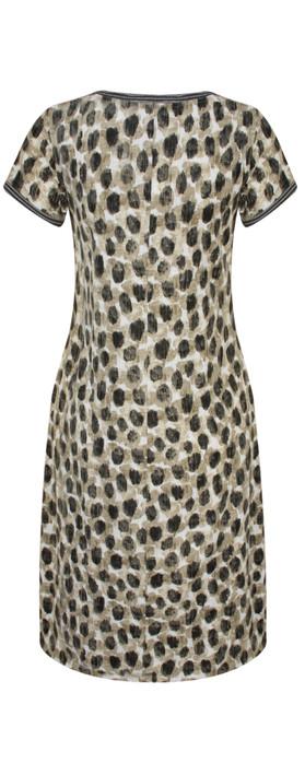 Sandwich Clothing Dot Print Jersey Dress Desert Sand
