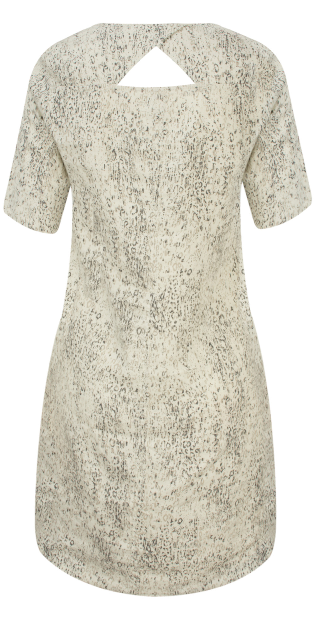 Animal Print Linen Dress main image