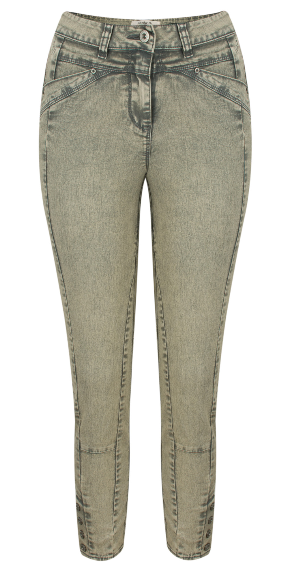 High Waist Skinny Detail Trousers main image
