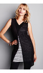 Sandwich Clothing Almost Black Jersey Striped Longline Vest