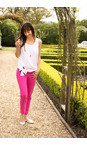Robell Trousers Magenta Bella 7/8 Cropped Trouser