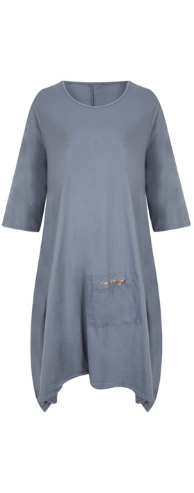 TOC  Dylann Oversized Jersey Dress Steel Blue