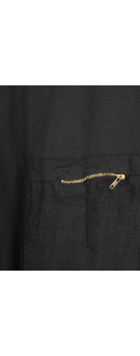 TOC  Dylann Oversized Jersey Dress Black