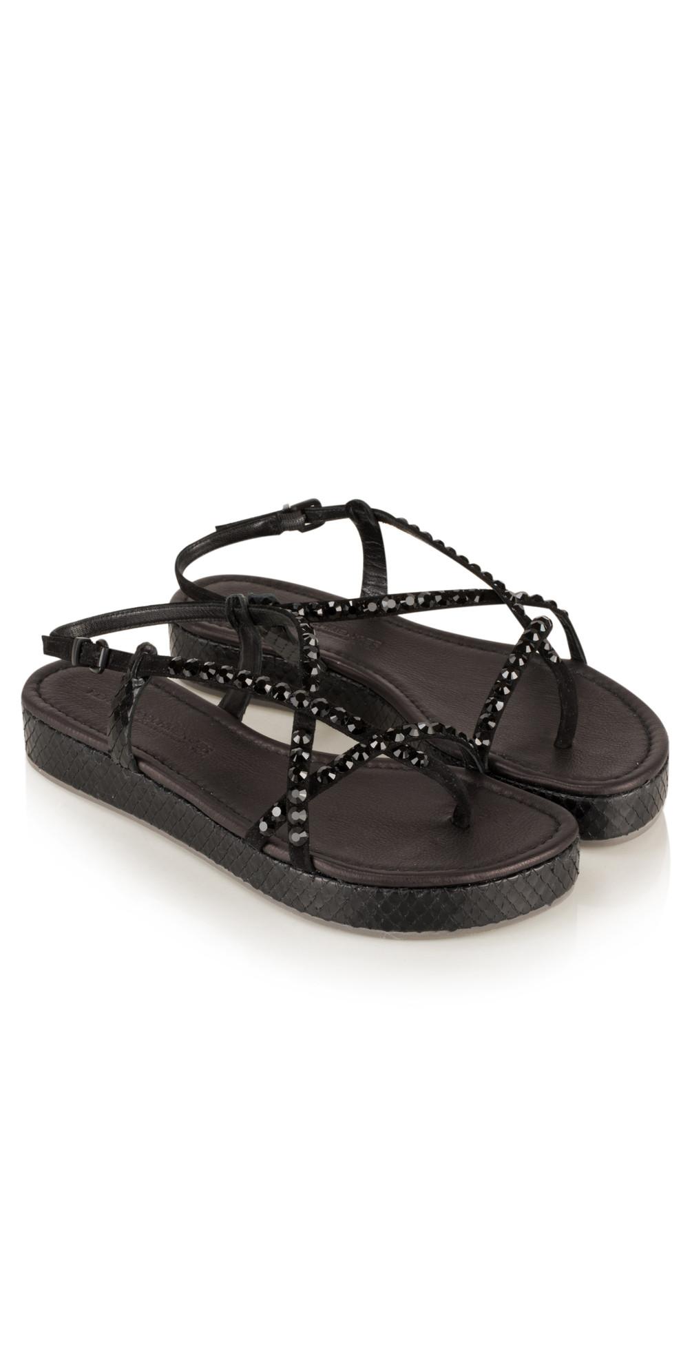 kennel und schmenger neo viper crystal sandal in schwarz. Black Bedroom Furniture Sets. Home Design Ideas