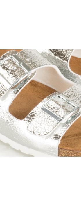 Tamaris  Birki Double Strap Sandal Silver