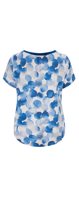 Sandwich Clothing Printed Dot Blouse Deep Blue