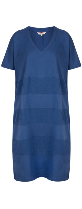 Sandwich Clothing Oversized Jersey Stripe Dress Deep Blue