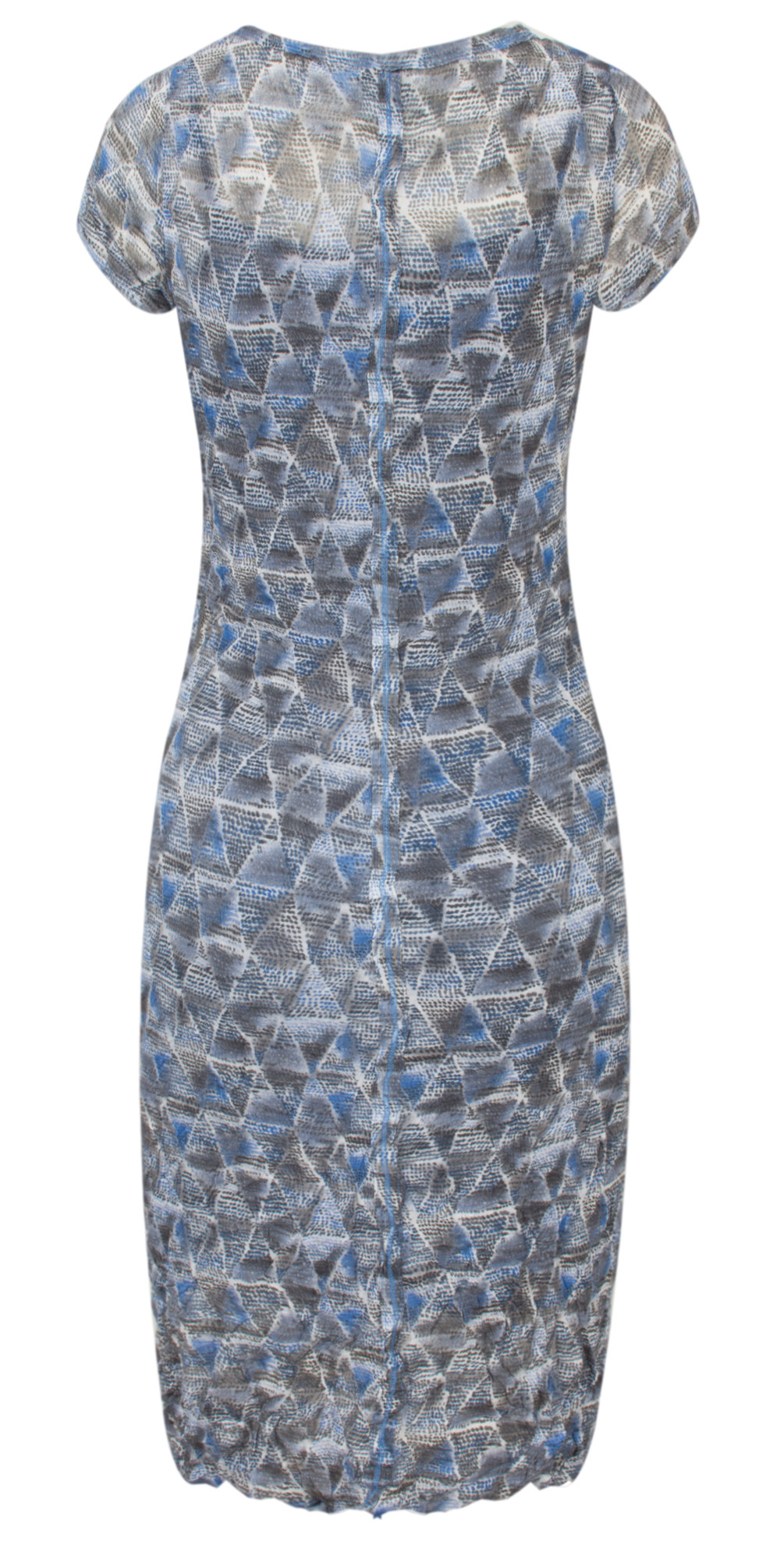 Geometric Print Crinkle Dress main image