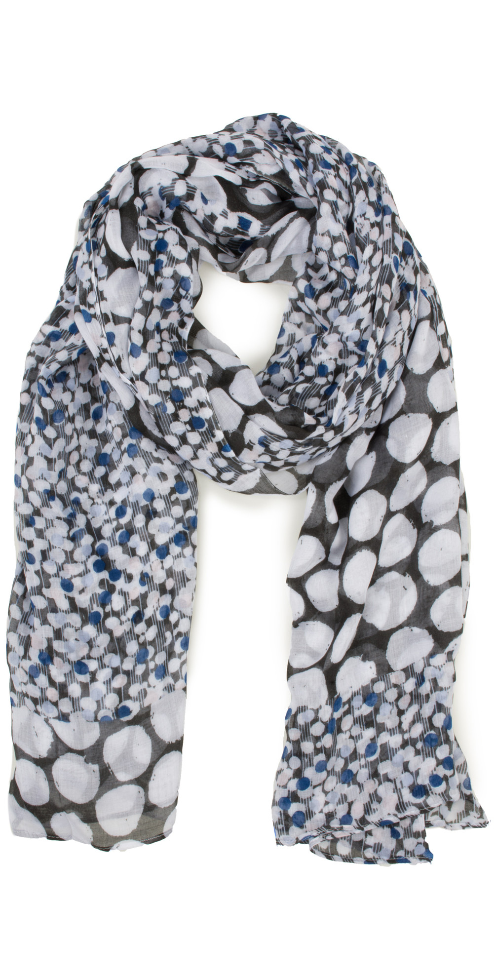Dots and Stripes Split Pattern Scarf main image