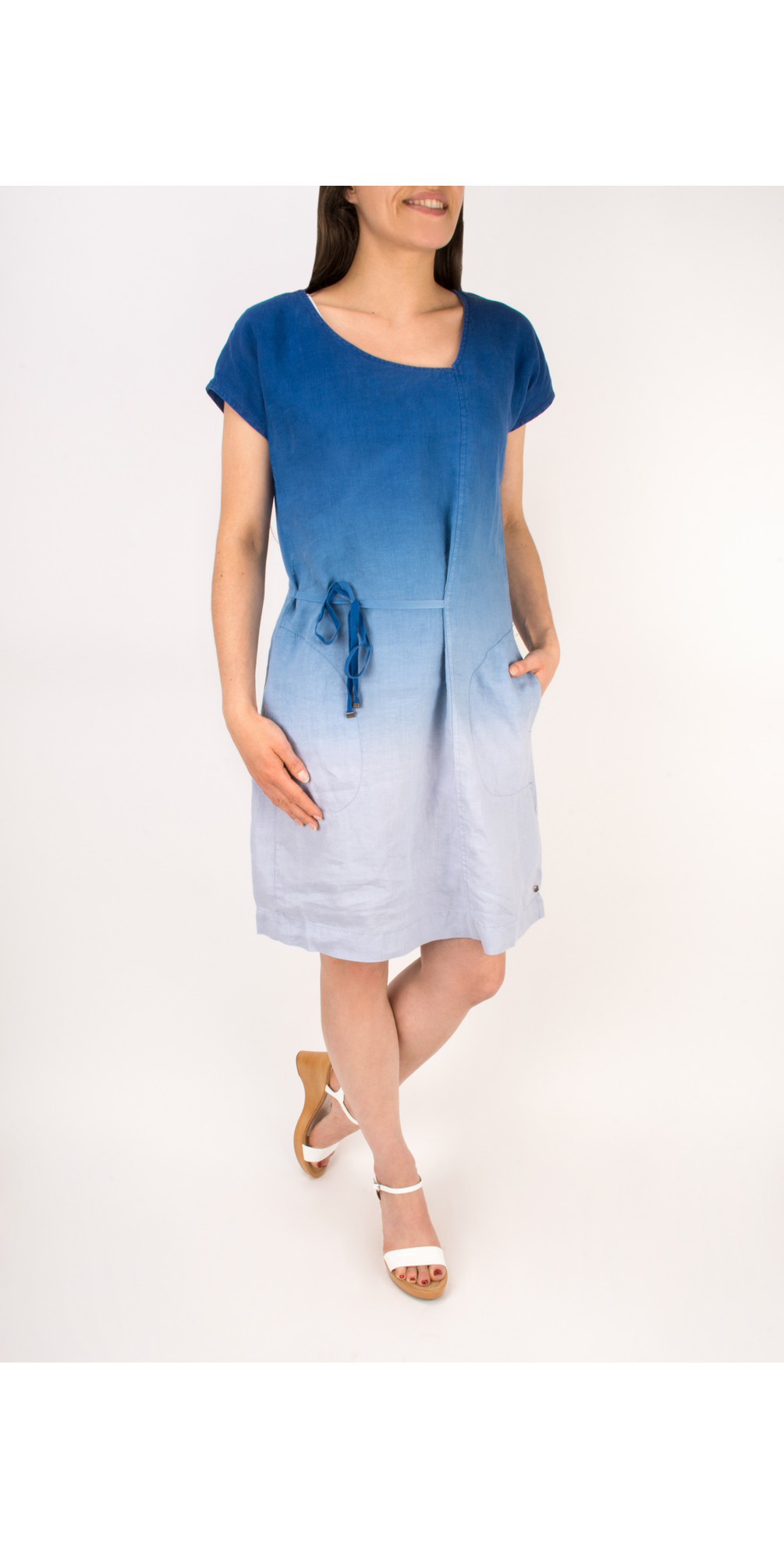 Linen Dip Dyed Dress main image