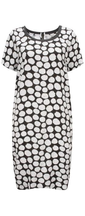 Sandwich Clothing Painted Dot Print Dress Pure White