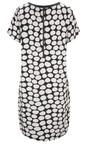 Sandwich Clothing Pure White Painted Dot Print Dress