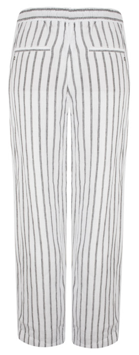 Sandwich Clothing Linen Stripe Casual Trouser Almost Black