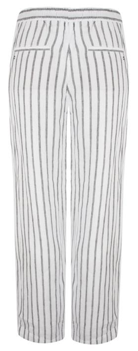 Sandwich Clothing Linen Stripe Casual Trouser Almost Black