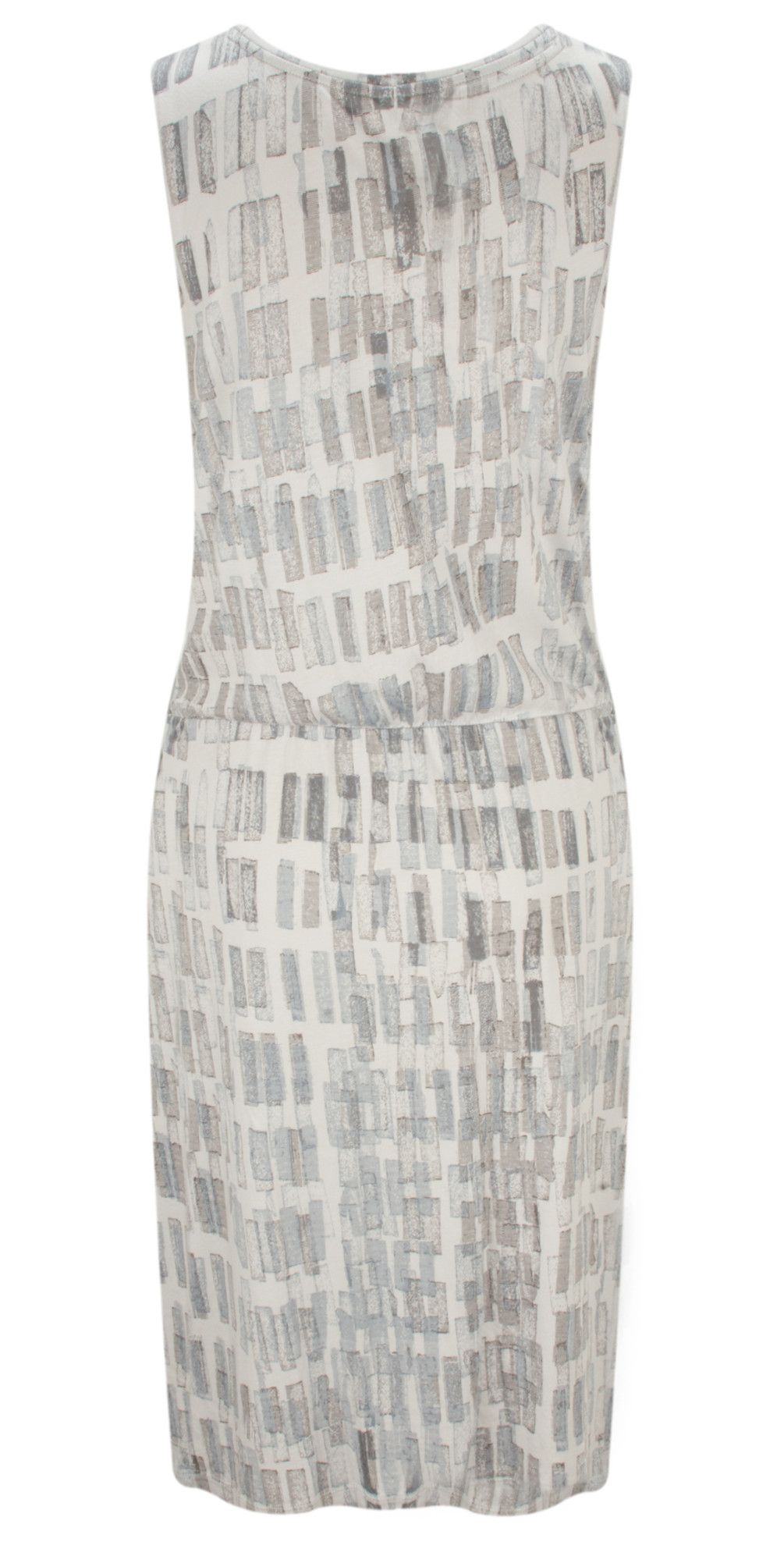 Texture Print Dress with Tie Detail main image