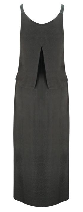 Sandwich Clothing Long Woven Dress Almost Black