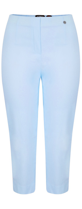 Robell Trousers Marie 07 Cropped Trouser Azure Blue