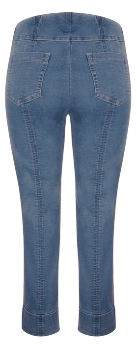 Robell Trousers Bella 7/8 Cropped Jean Light Denim