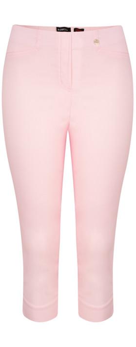 Robell Trousers Rose 07 Slimfit Cropped Trouser Sorbet