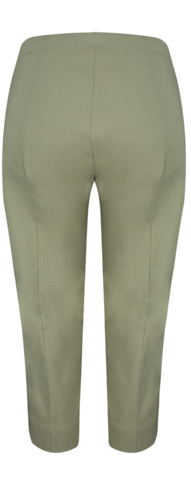 Robell Trousers Marie 07 Cropped Trouser Olive