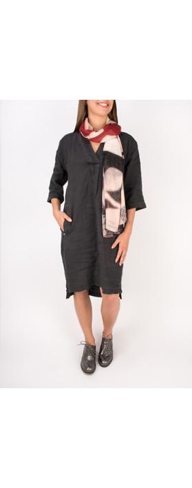 Sandwich Clothing Linen Tunic Dress Almost Black