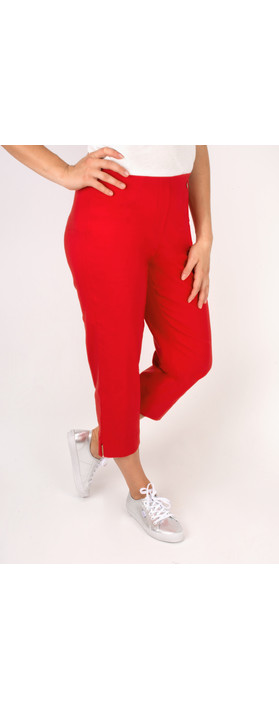 Robell Trousers Marie 07 Cropped Trouser Red