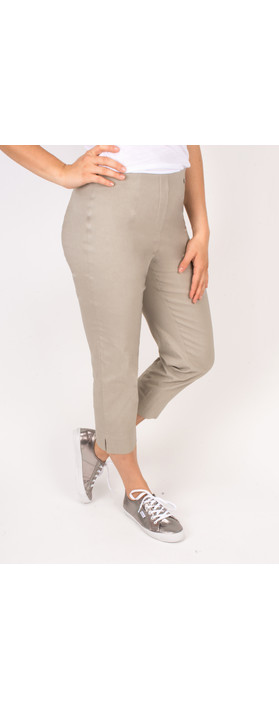 Robell Trousers Marie 07 Cropped Trouser Taupe