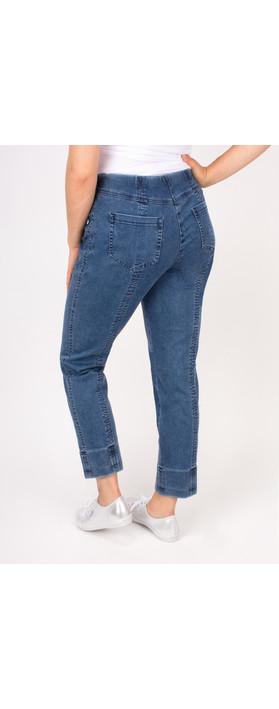 Robell Trousers Bella 7/8 Cropped Jean Light Denim