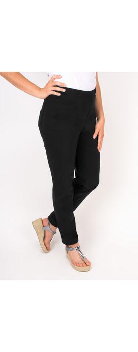Robell Trousers Bella 78cm Slim Fit Trouser Black