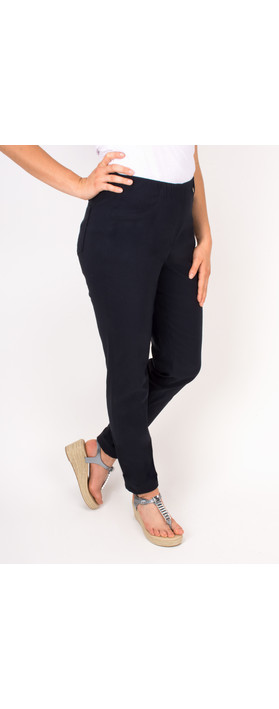 Robell Trousers Bella 78cm Slim Fit Trouser Navy
