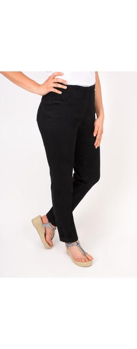 Robell Trousers Bella Slim Fit Jean Black