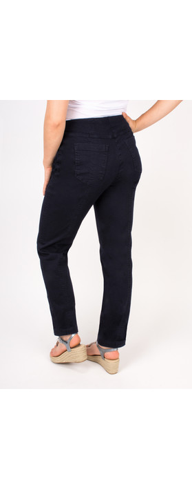 Robell Trousers Bella Slim Fit Jean Dark Navy