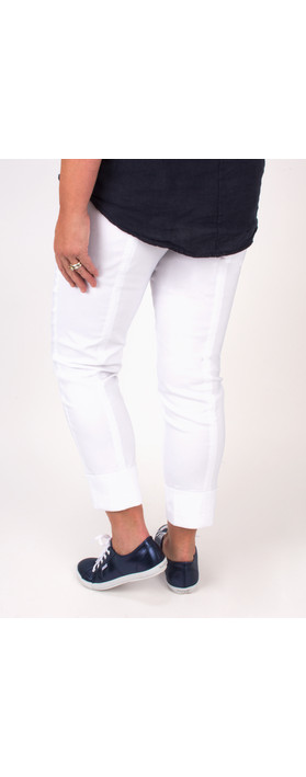 Robell Trousers Bella 7/8 Cropped Trouser  White