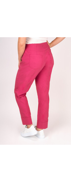 Robell Trousers Bella 7/8 Cropped Trouser  Magenta