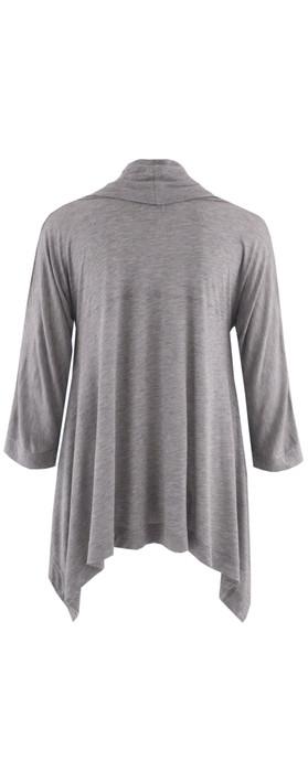 Masai Clothing Asymmetrical Top Grey Mel