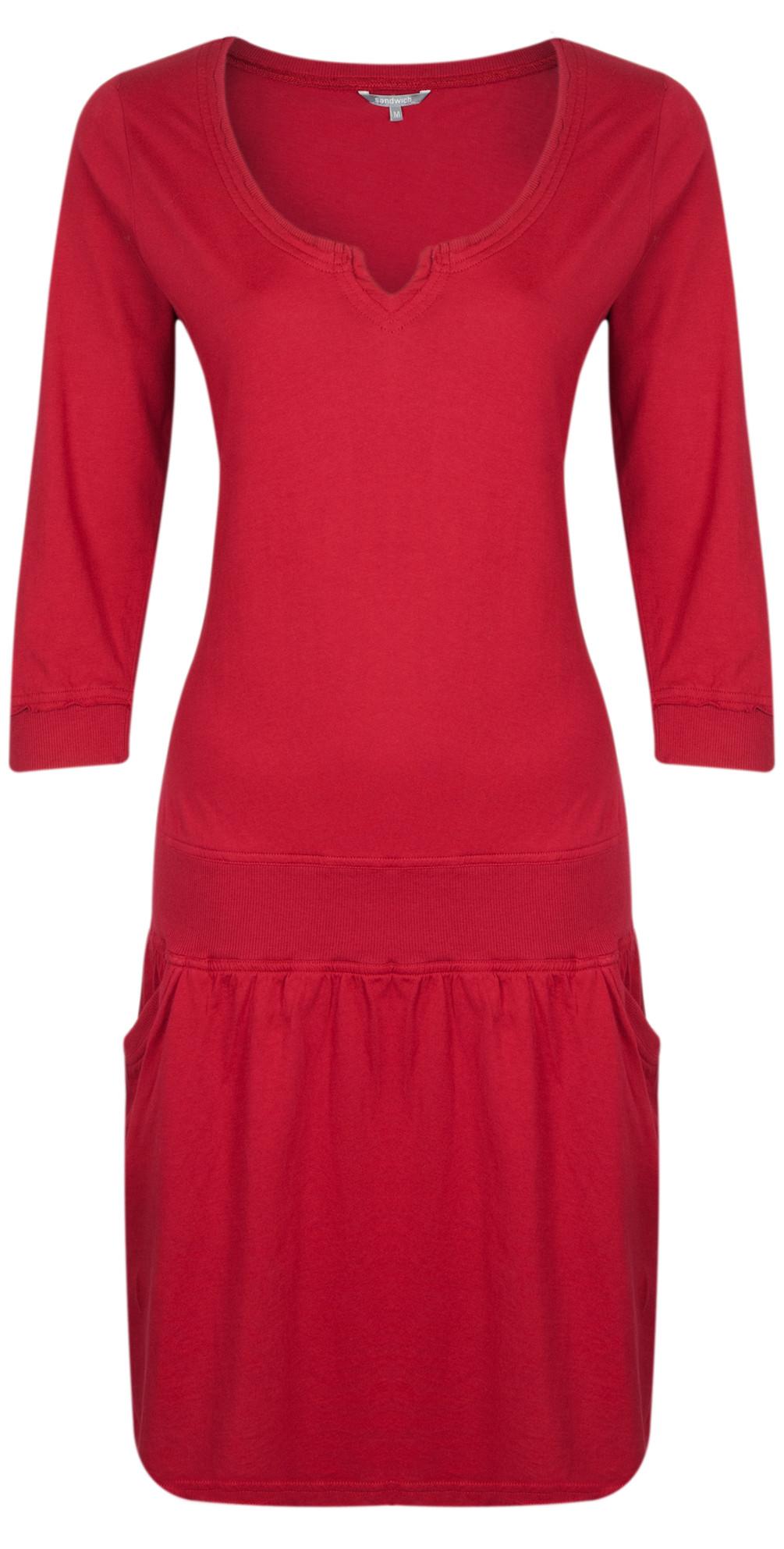 sandwich clothing single jersey dress in winterred. Black Bedroom Furniture Sets. Home Design Ideas