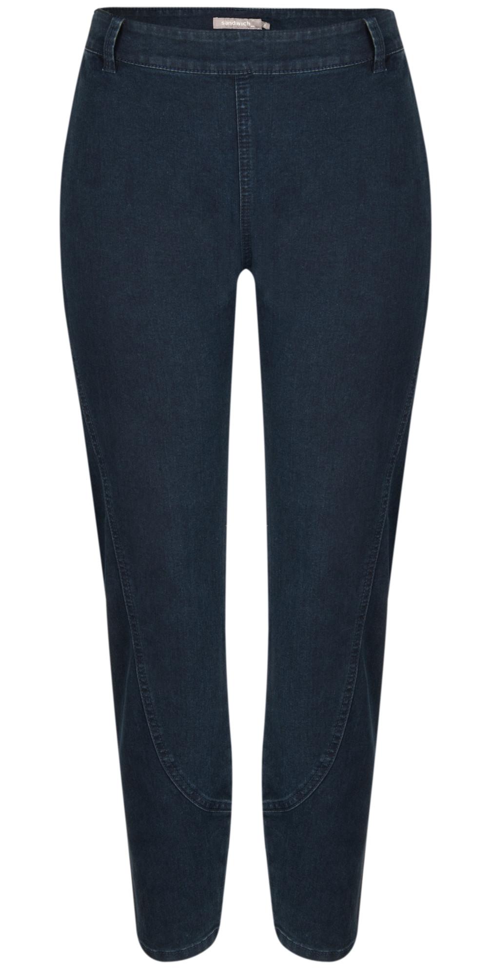 Sandwich Clothing Denim Tregging Pants in Dark Blue
