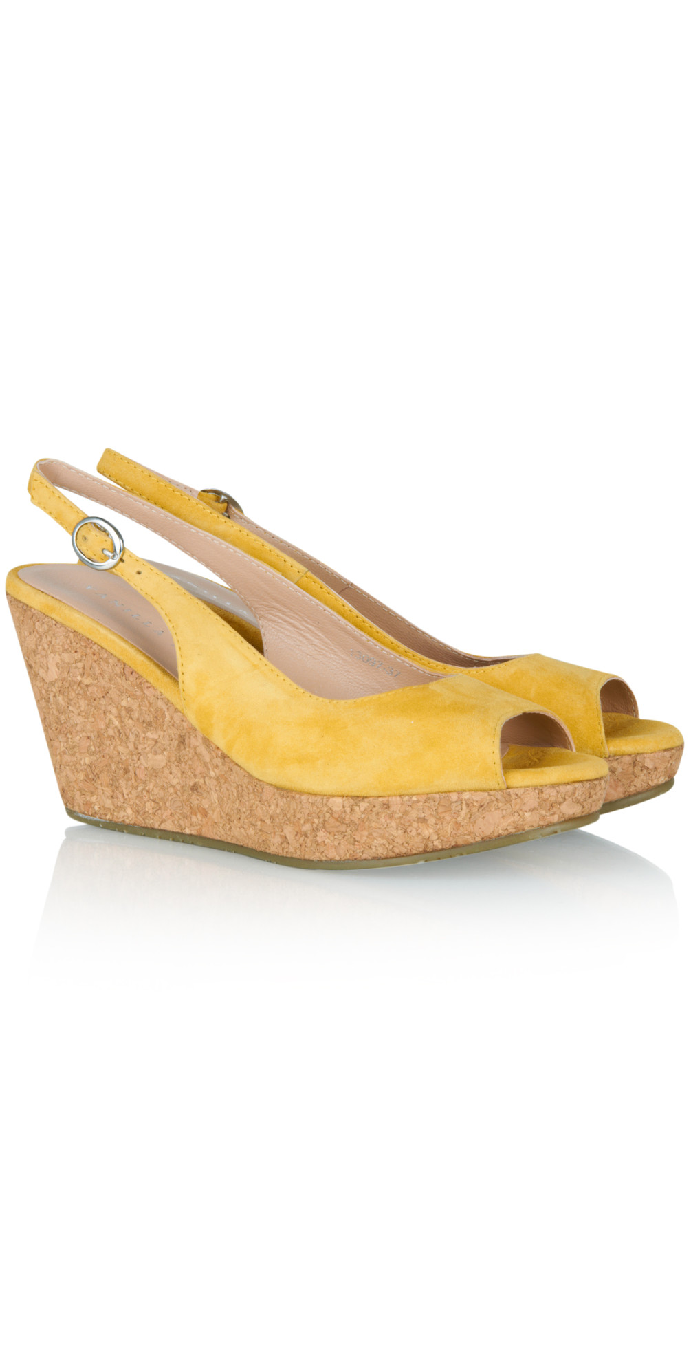 vanilla moon shoes suede wedge in yellow