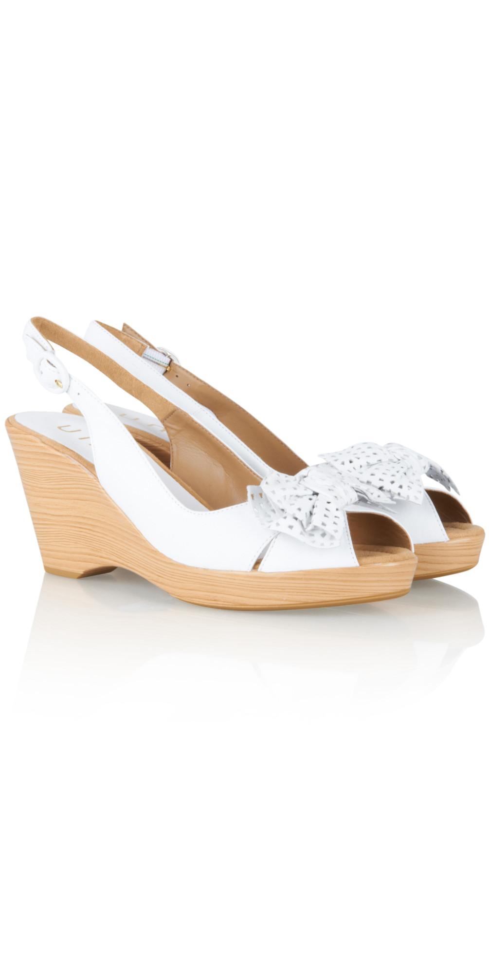 unisa shoes kaimer wedge sandal in white