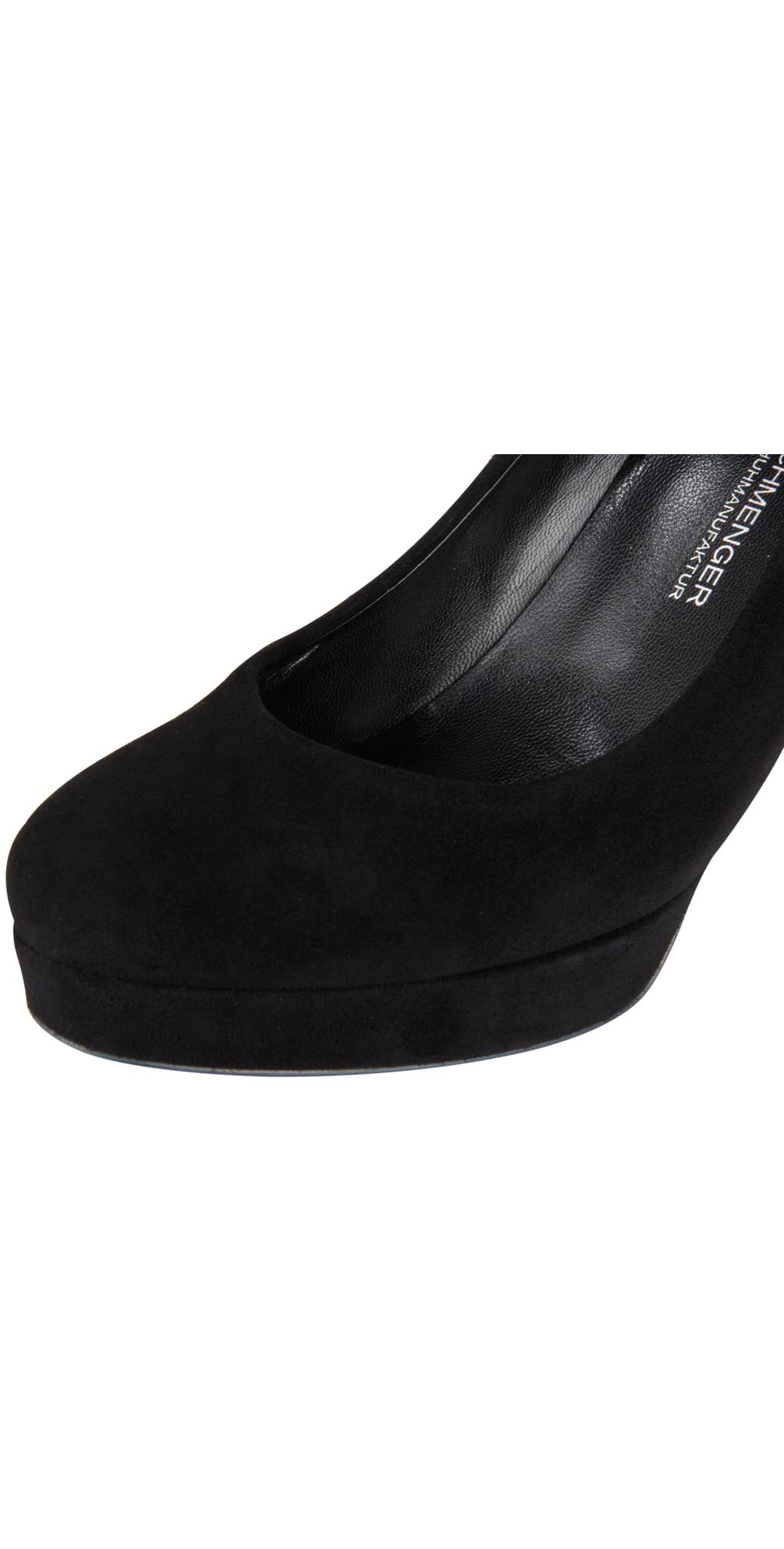 kennel und schmenger heeled shoe in schwarz. Black Bedroom Furniture Sets. Home Design Ideas
