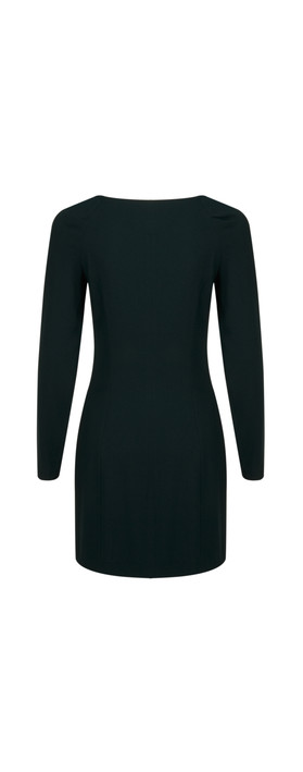 Stills Clothing Long Sleeve Triacetate Dress Green