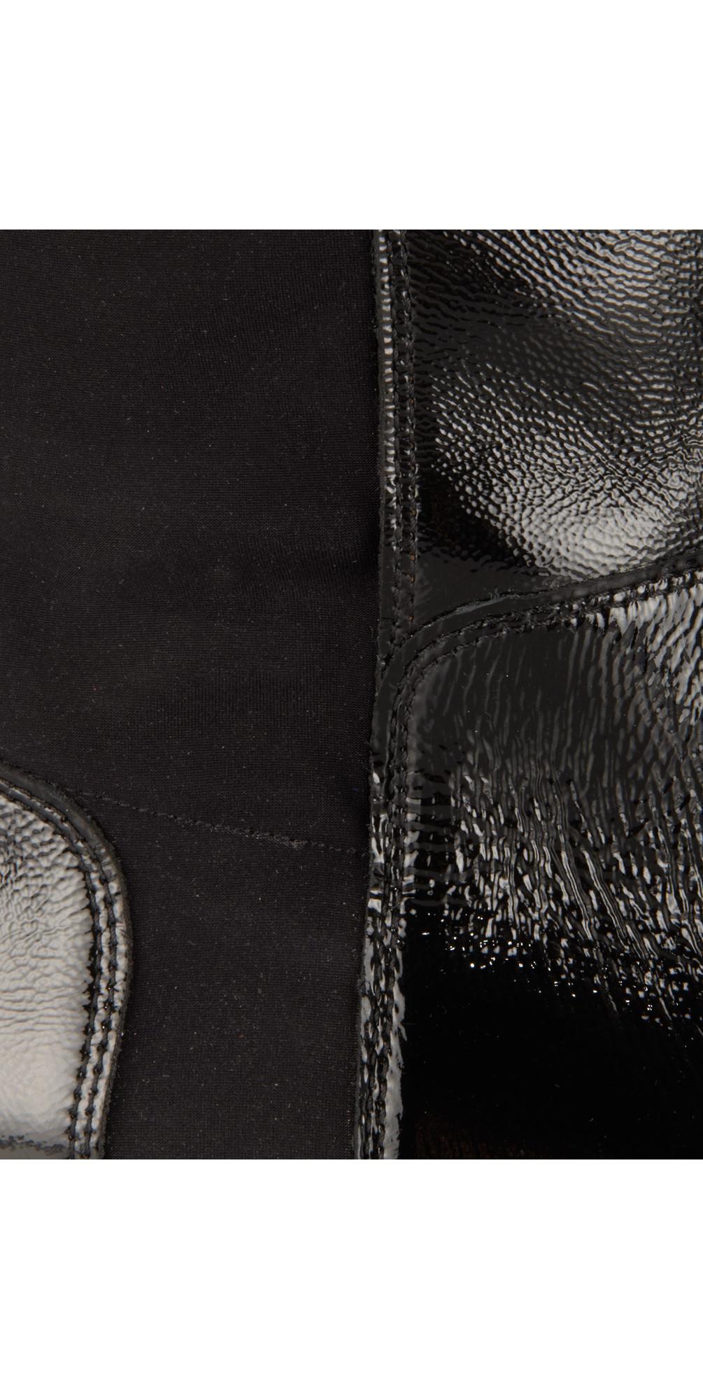 kennel und schmenger long flat patent boot in schwarz. Black Bedroom Furniture Sets. Home Design Ideas