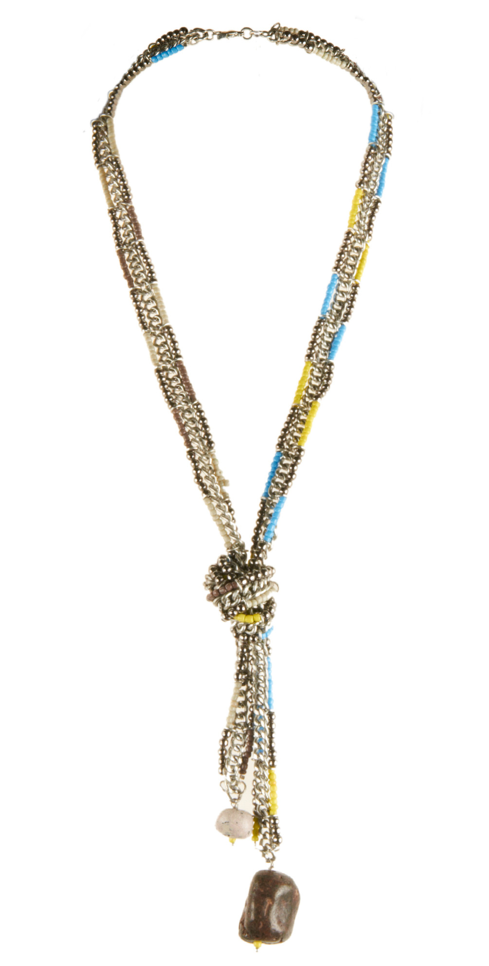 Andy Oneill Multi Coloured Beaded Necklace With Stone ...