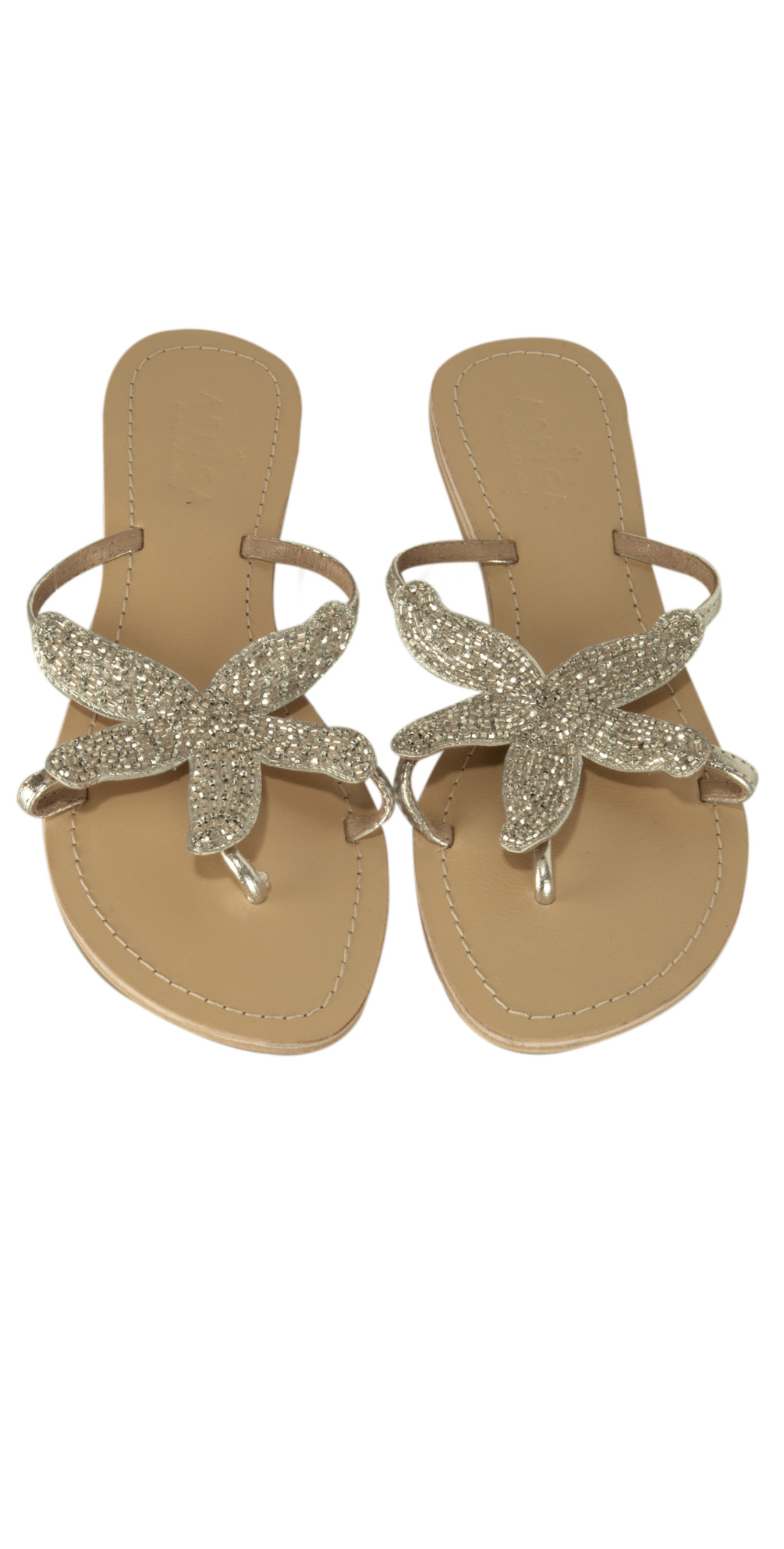 aspiga starfish sandal in silver