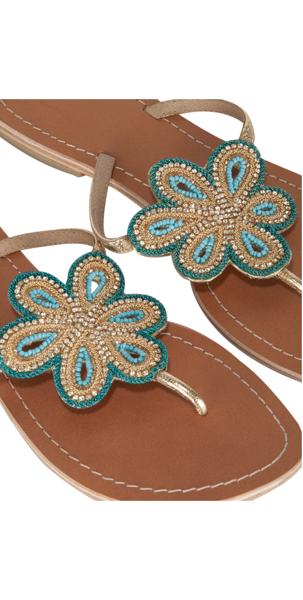 Flower Sandal With Diamante Detail main image